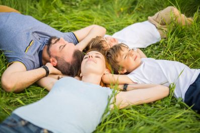 85481047 - happy family in the meadow
